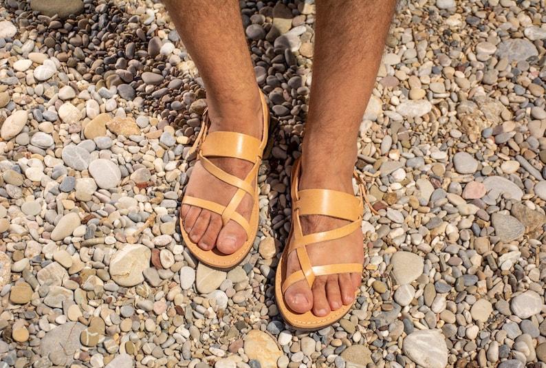 a8d18ed4b3c0c0 Mens Leather sandals Gladiator sandals Greek sandals Men