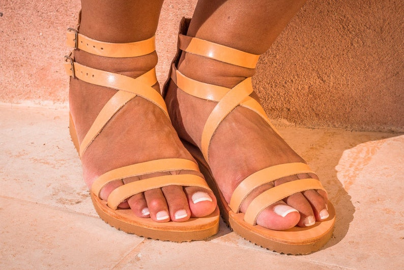 3aed0de17bfcd1 Leather sandals Womens sandals Comfortable strappy sandals