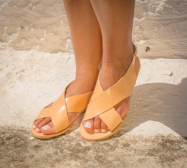 584436db11cd1c Leather sandals   Woman sandals   Greek sandals   Greek