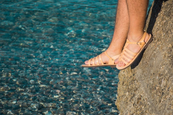 gladiateur en homme cuir Sandales sandales Sandales grecs tUZwq7Hq