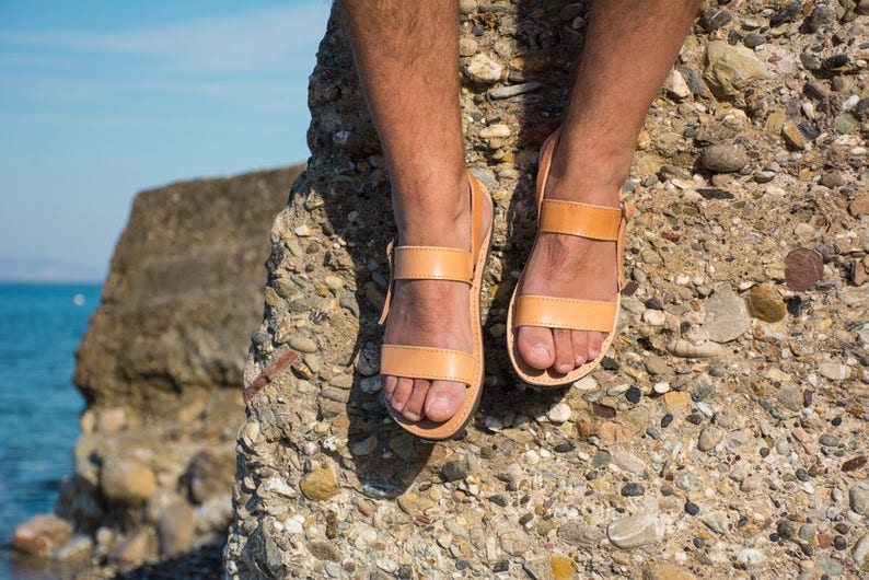 1074ee3528af4 Men leather sandals men greek sandals handmade sandals summer