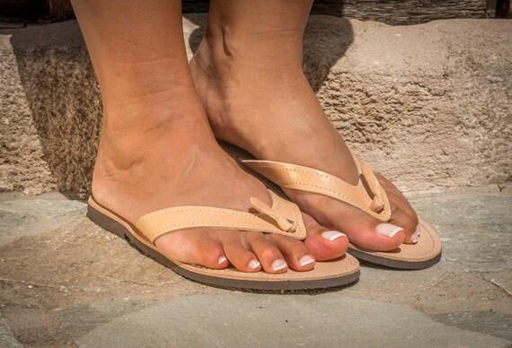 Femmes en cuir Sandales plates grecque sandales flop flip femme Sandales qBrxHqnfW