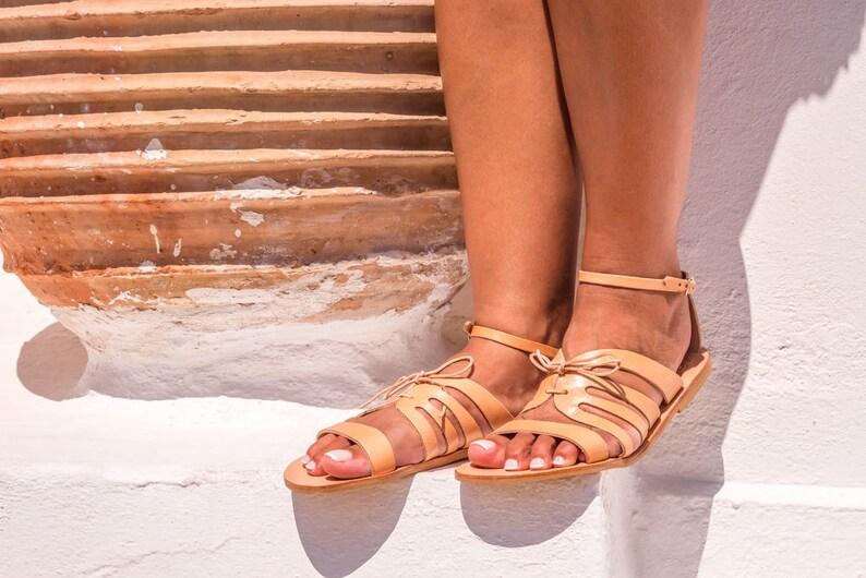 68d9de312f4bcf Greek sandals ankle strap sandals strappy sandals gladiator