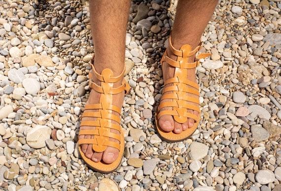 sandales Sandales Sandales grecs en homme gladiateur cuir qUwE4U