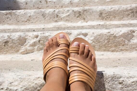 chaussures avec diapositives lani grecques en femmes Sandales pour cuir BnqxYSwfUF