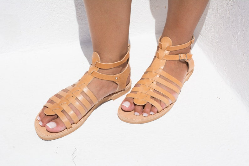 0fc3cd459903a Leather sandals Greek sandals Gladiator Sandals Women sandals Strappy  sandals Handmade sandals Flat sandals Spartan sandals - KYTHERIA