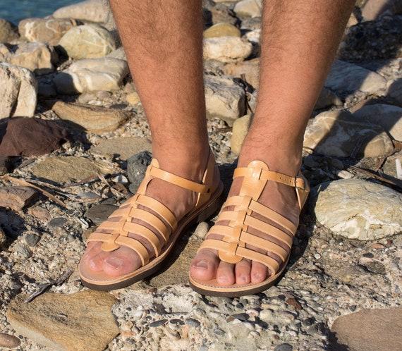 en Sandales cuir en pour hommes pour Sandales cuir hommes pqwvU7HB
