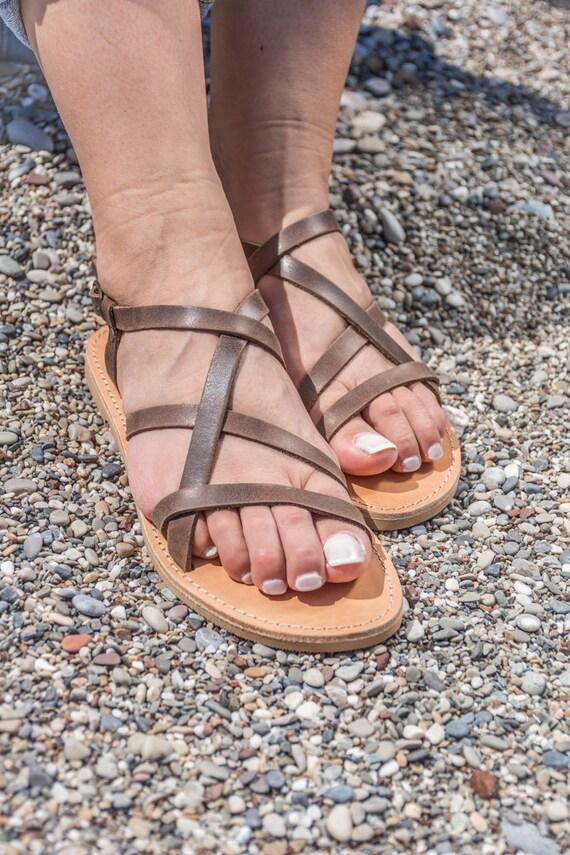 dames Paxia Sandales cuir grecques KyaniaCreations en en pour beige BBqIywT8c