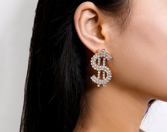 LUX Crystal Inlaid Oversize Dangle Earrings