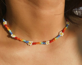 Necklaces-jewelry beads-necklace blue-glass beads-necklace original woman-small gift handmade