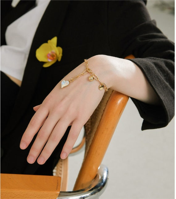 Trendy Heart Charm Pendant Bracelet