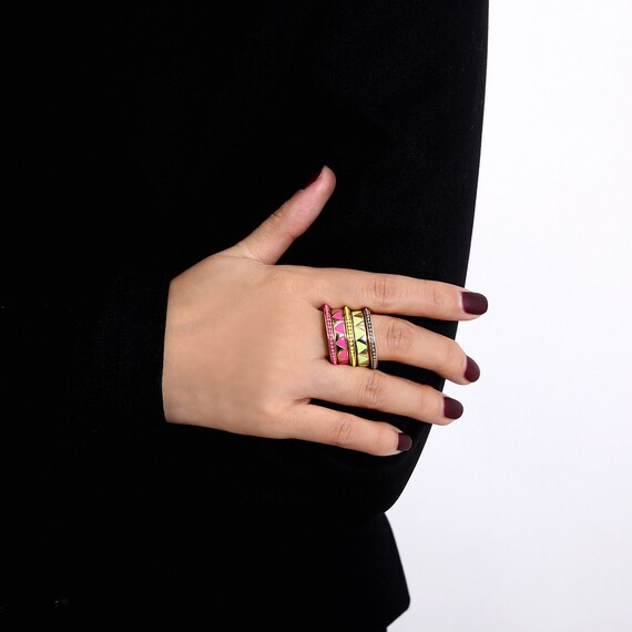 Multi-Color Boho Ring Set For Women and Girls