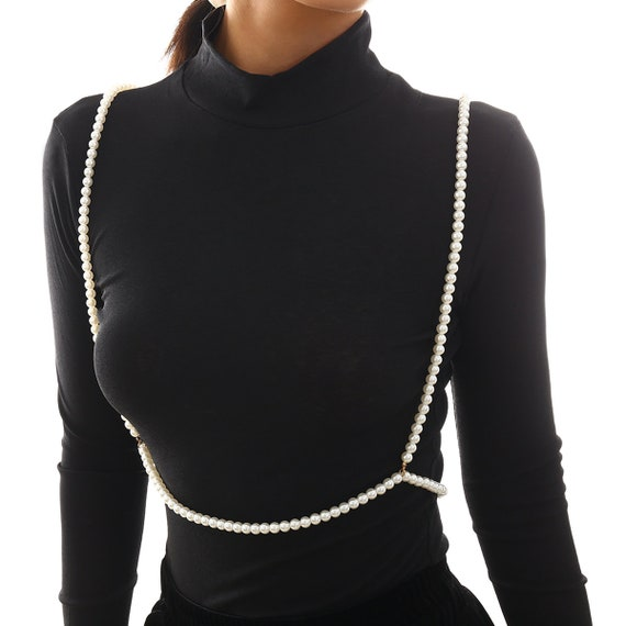 Bohemian Beaded Pearl Long Crossover Body Chain