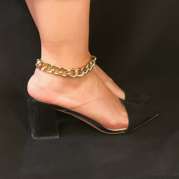 Minimalist Gold Silver Tone Twisted Chain Anklet - Trendy Metal Chain Anklet