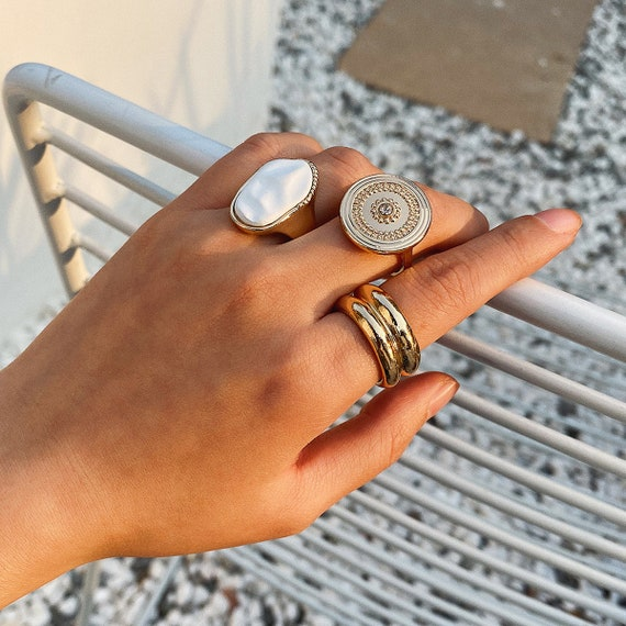 Bohemian 3 Pieces Ring Set