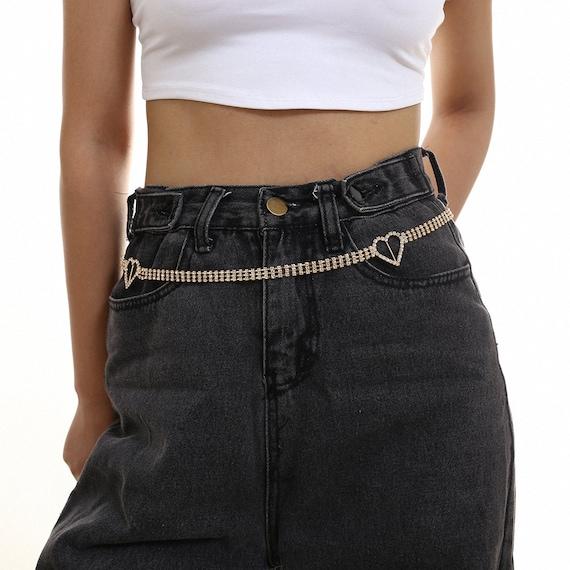 Hot Girl Rhinestone Inlaid Bling Belt - Chic Crystal Inlaid Waist Chain - Dainty Wedding Sash