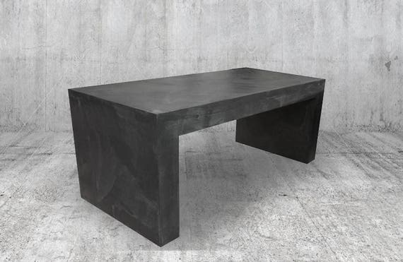 7c4c881dd5897 Table basse ou meuble TV Béton ciré