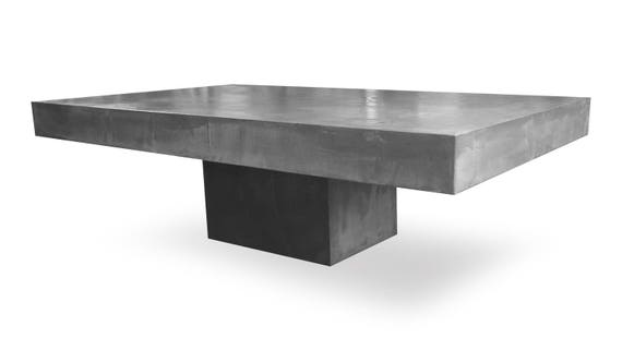 Low Light Ultra Polished Concrete Pedestal Table Etsy