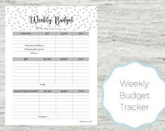 monthly budget planner printable budget planner printable etsy