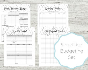 easy budget plan etsy
