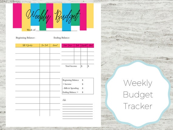 photograph about Printable Weekly Budget Planner identify Weekly Price range Printable Weekly Finances Funds Software Finances Printable  Vibrant Spending plan Weekly Spending plan Planner Weekly Funds Spending plan