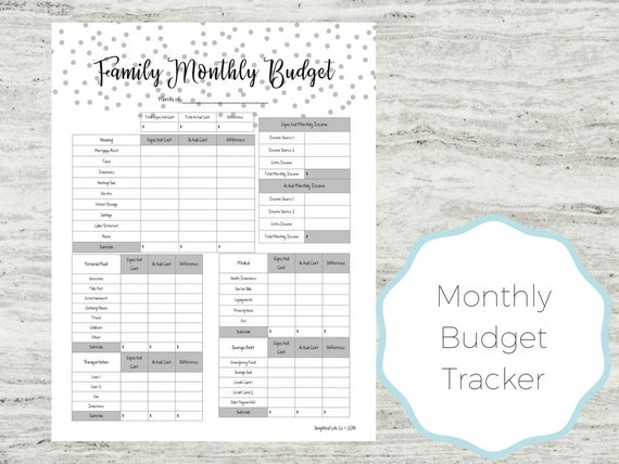 picture relating to Printable Monthly Budget Planner called Month to month Spending budget Planner Printable Spending plan Planner Printable Month-to-month Spending budget Spouse and children Finances Finances Printable Regular Spending plan Budgeting