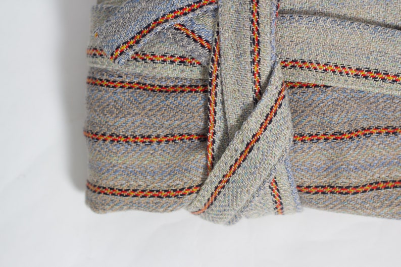 Multifunctional Quick Drying Day Wear Zeyrek No4 Stripe Turkey Robe Boho Cotton Bathrobe Brown Bohemian Medium Weight Housecoat
