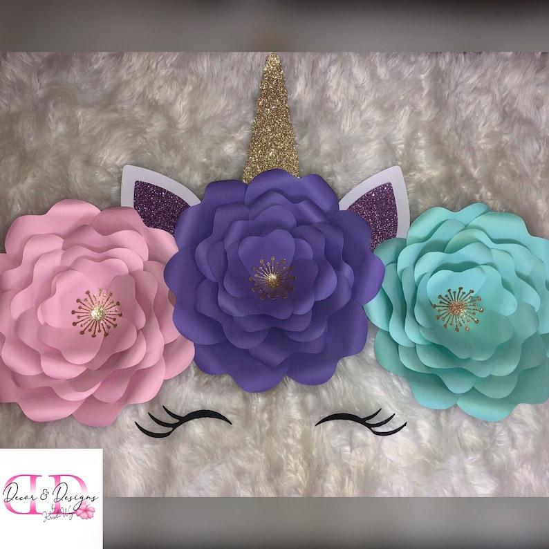 Unicorn Paper Flower set