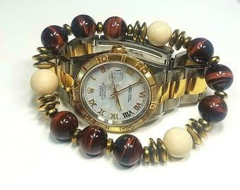 12 MM Red Tigers Eye bracelet