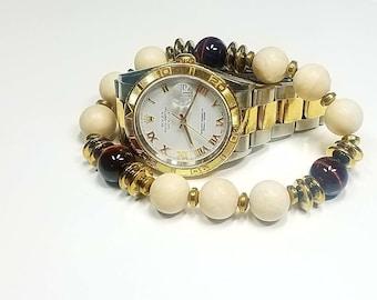 12 MM Cream River Stoner bracelet