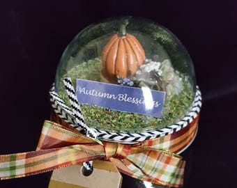 Mason Jar Gift Container--Hand made Diorama for Thanksgiving, Fall