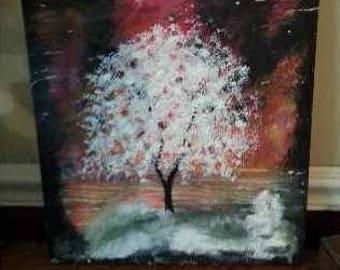 Spirit Tree Acrylic Painting