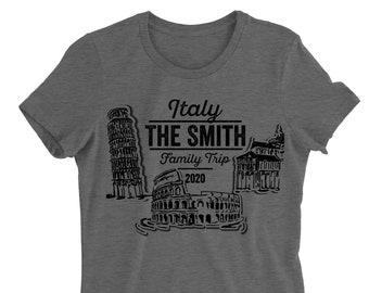 eaa56c8250 Italy Family Trip. Custom Shirt. Family Trip. Matching T-shirt. Unisex Tee.  Europe Vacation.