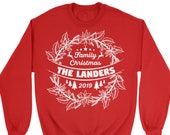 Family Christmas 2020 Custom Sweatshirt Personalized Custom Sweater. Customizable Sweatshirt. Your Text Here.