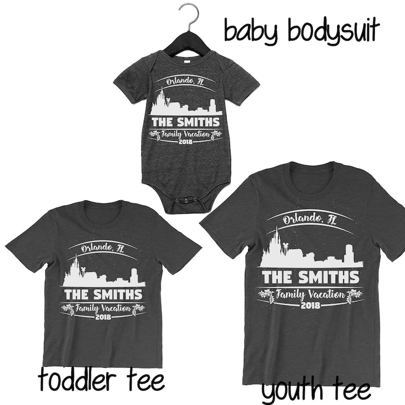 Orlando Florida Family Vacation Baby Bodysuit Toddler T Shirt Youth T Shirt Custom T Shirts