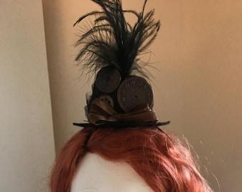 Steampunk Victorian Mini Party Hat