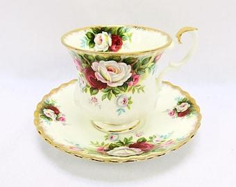 Vintage Royal Albert, Bone China England, ''celebration'' Porcelain Cup and Saucer, Lady Size