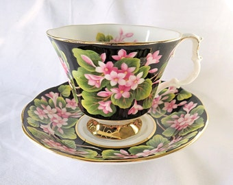Vintage Royal Albert, Bone China England, Provincial Flowers, ''Mayflower'' Cup and Saucer from 1975
