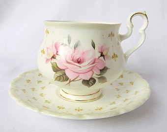 Vintage Royal Albert, Bone China England, ''Marie Louise'' Porcelain Cup and Saucer