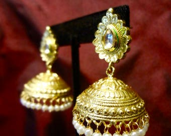 Indian Jhumkas, Ethnic Jewelry, Indian Jewelry, Elegant Earrings by The Jhumka Company