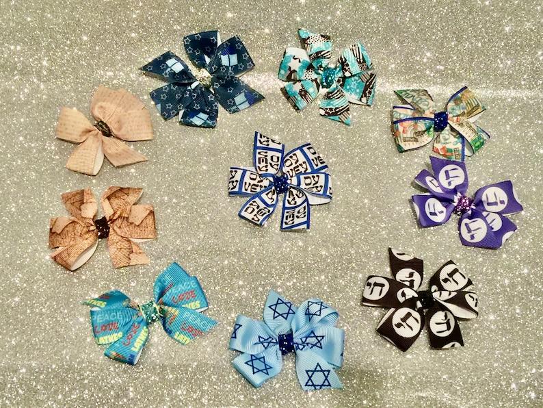 Passover hair bow Matzah hair bow Jewish Hair bow