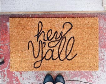 Hey Y'all Welcome Mat