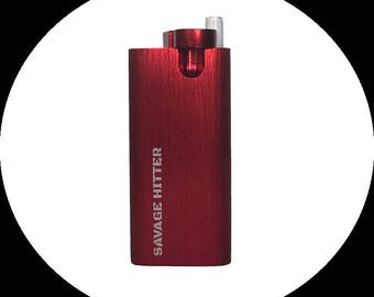 Savage Hitter - Aluminum Dugout - Cigarette and Tobacco Case - Complimentary Hitter