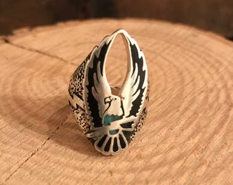 94 Eagle Lightening Bolt Stainless Steel Ring