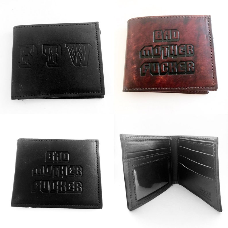 Bad Mother Fucker Leather BiFold Wallets