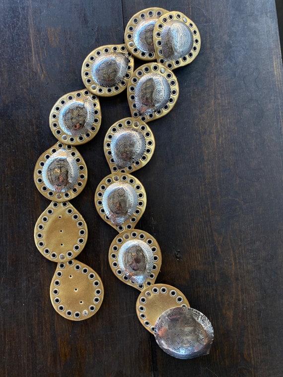 Vintage 80's Gold Belt
