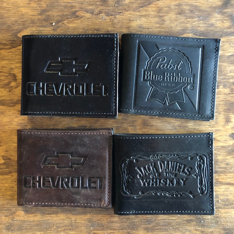 Leather BiFold Wallets Assorted Designs LOOK