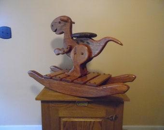 Handcrafted Wood Rocking Dinosaur 6c8953d0e8
