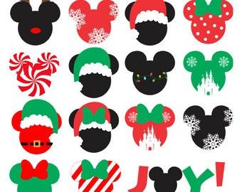 disney christmas svg bundle christmas mickey svg pack christmas minnie svg set disney holiday svg holiday mickey mouse svg cut file - Christmas Mickey Mouse
