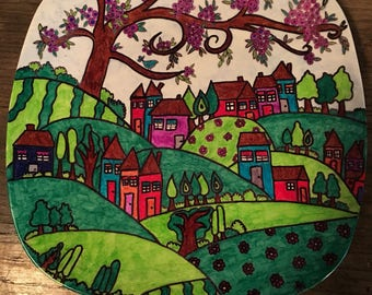 Landscape decorative plate/tray